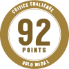 92 points, gold medal - Critics Challenge