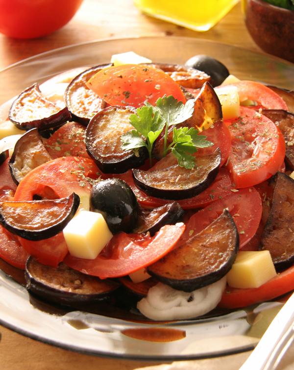 Eggplant Tomato Salad - Wine Spots Food Recipes